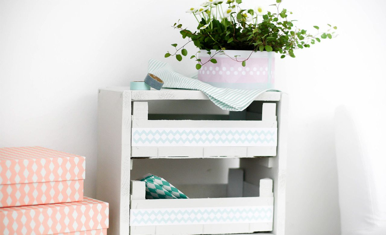diy regal aus obstkisten obstkisten recycling. Black Bedroom Furniture Sets. Home Design Ideas