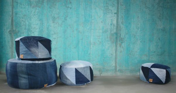 bridge and tunnel pouf