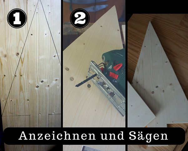 diy tutorial so baust du dir weihnachtsb ume aus holz re blog. Black Bedroom Furniture Sets. Home Design Ideas
