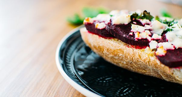 Rote Bete Superfood Rezept Ciabatta