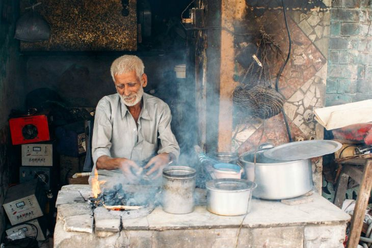 Chai-Stand in Indien