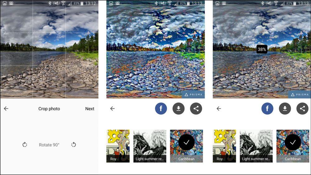 Android Foto App Prisma
