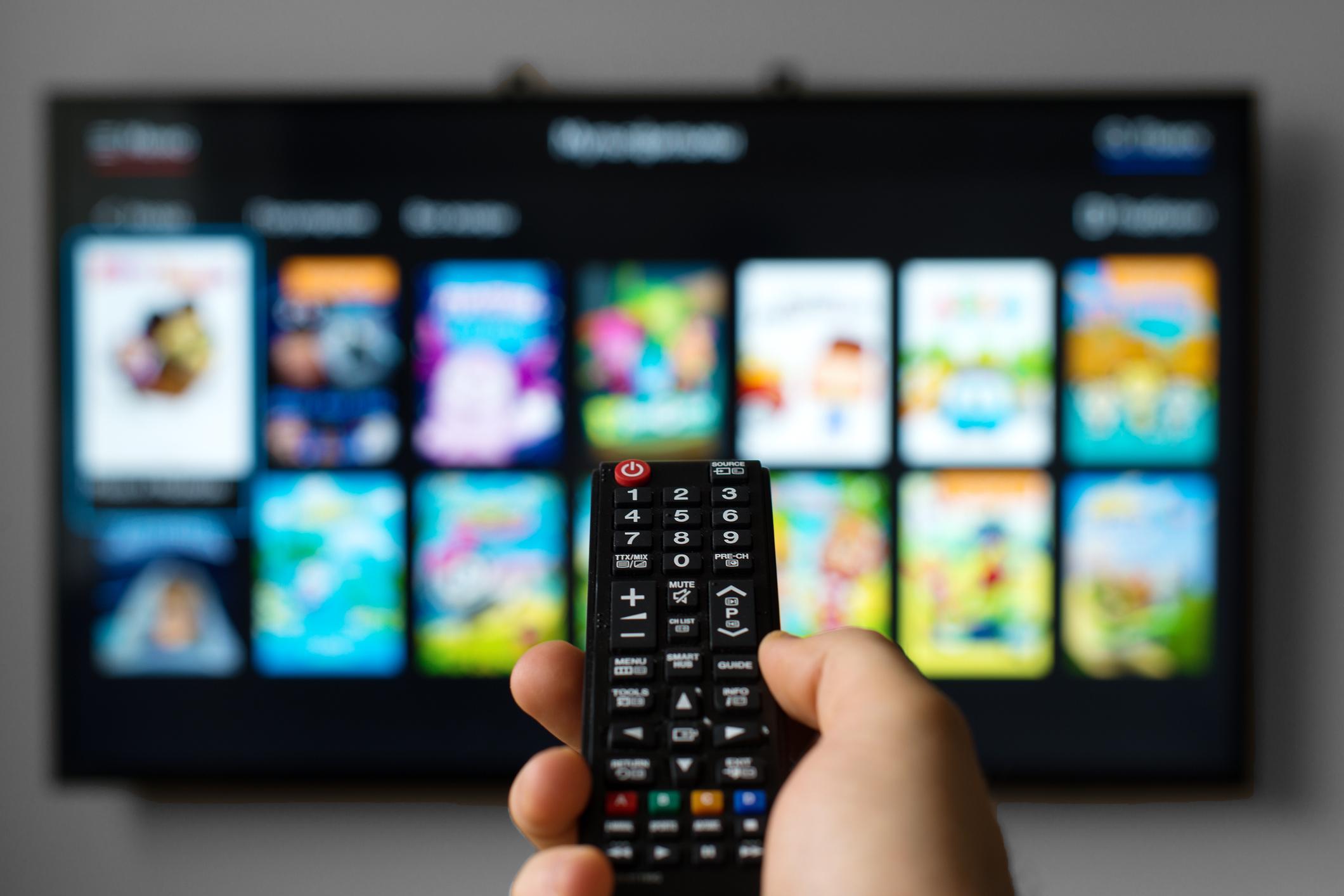 Smart TV Apps App-Store Fernbedienung