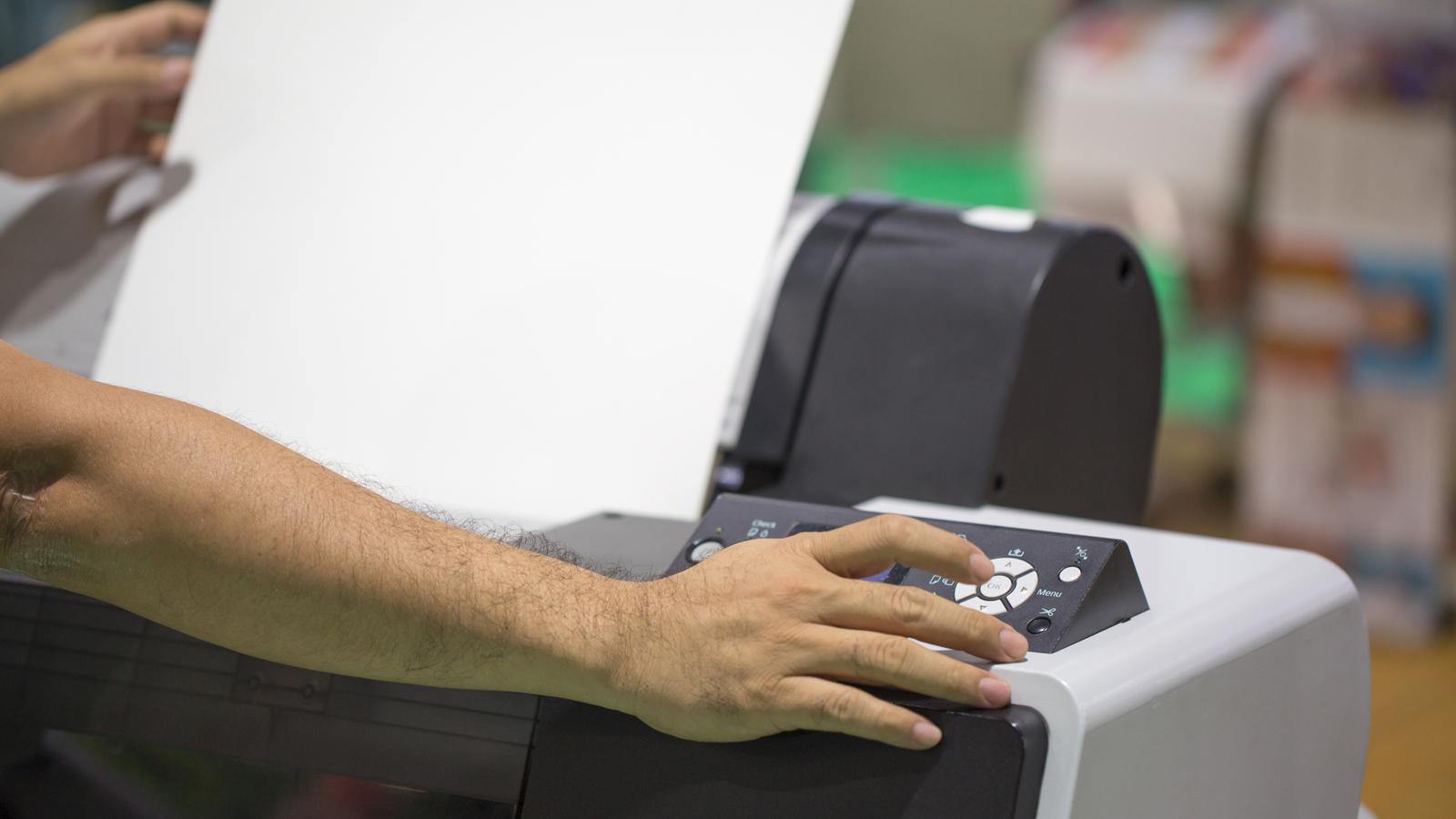 Klick auf Drucker-Menü