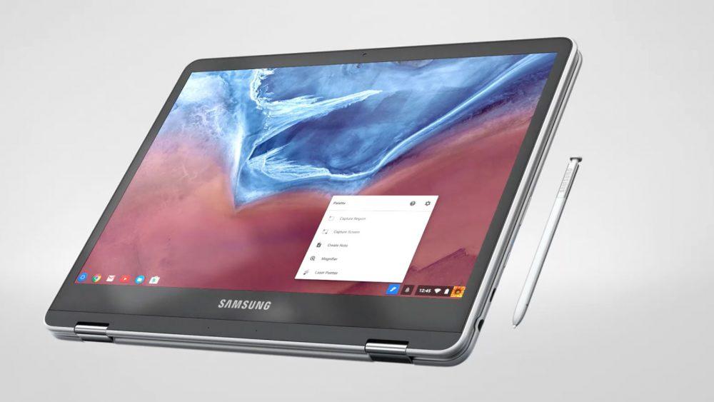 Samsung Chromebook Pro mit Stylus.