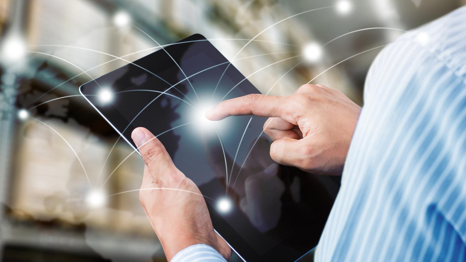 Kostenloser Speedtest am Tablet