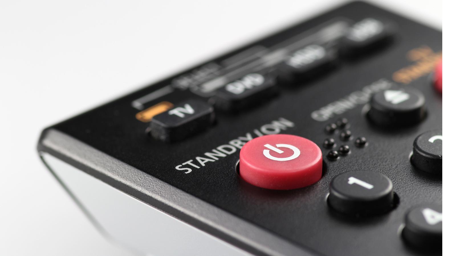 Standby-Knopf auf Fernbedienung
