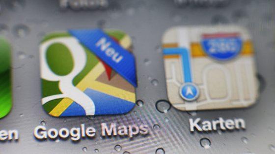 Google Maps integriert Lieferdienste.