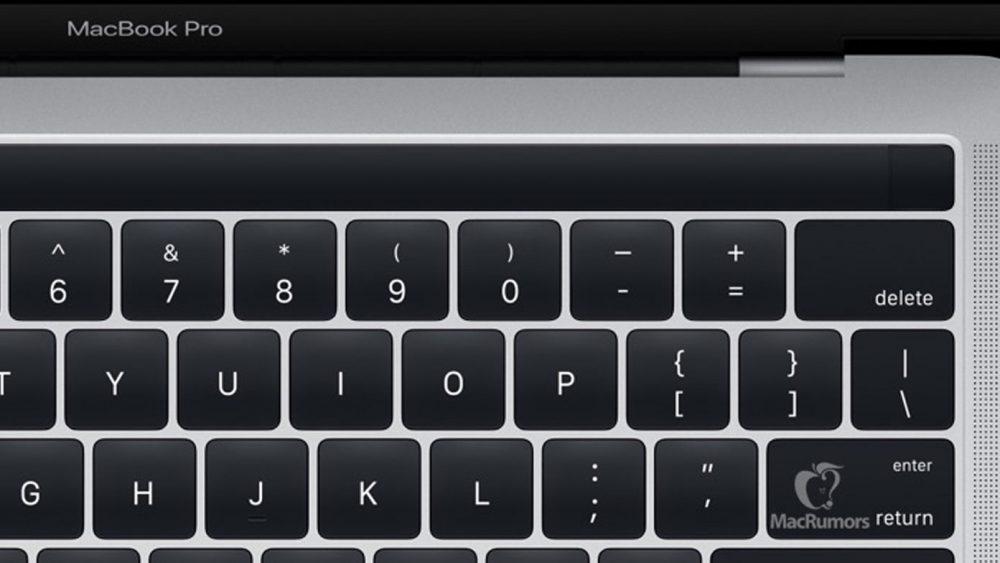 OLED-Leiste über der Tastatur: MacBook Pro mit Touch ID.
