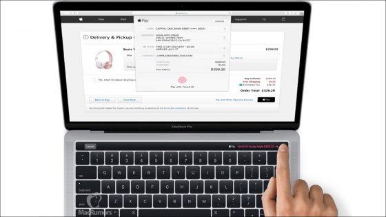 MacBook Pro mit Touch ID.