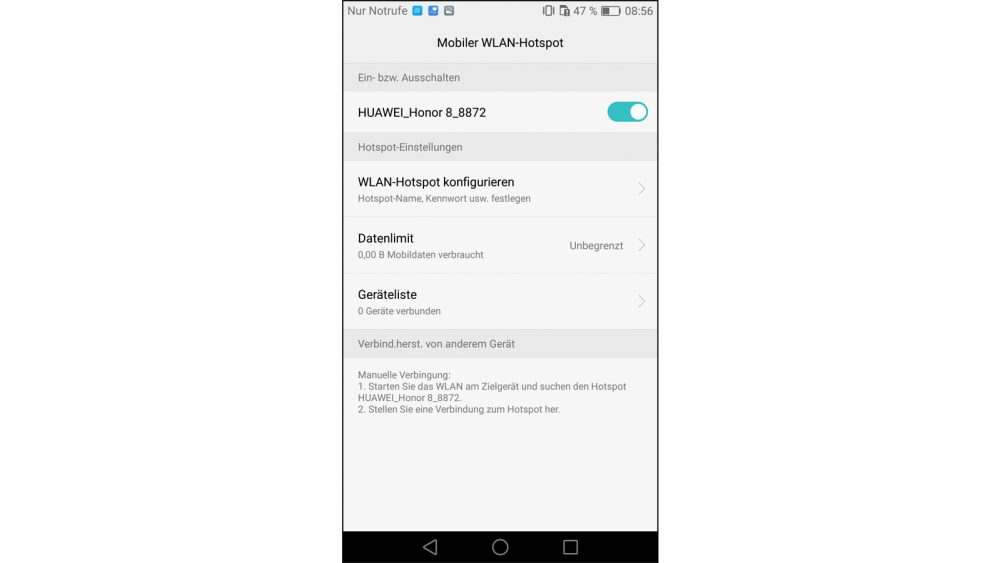 Android Persönlicher Hotspot einrichten