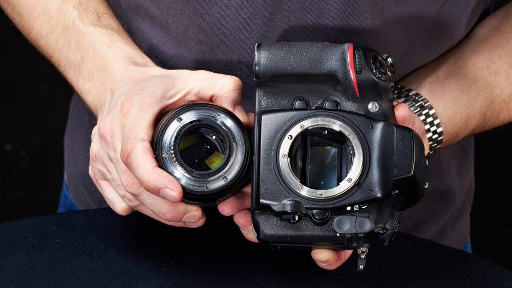 Bajonettanschluss an Kamera