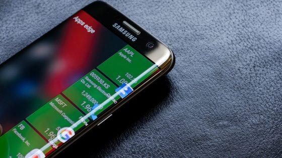 Das Samsung Galaxy S7 Edge.