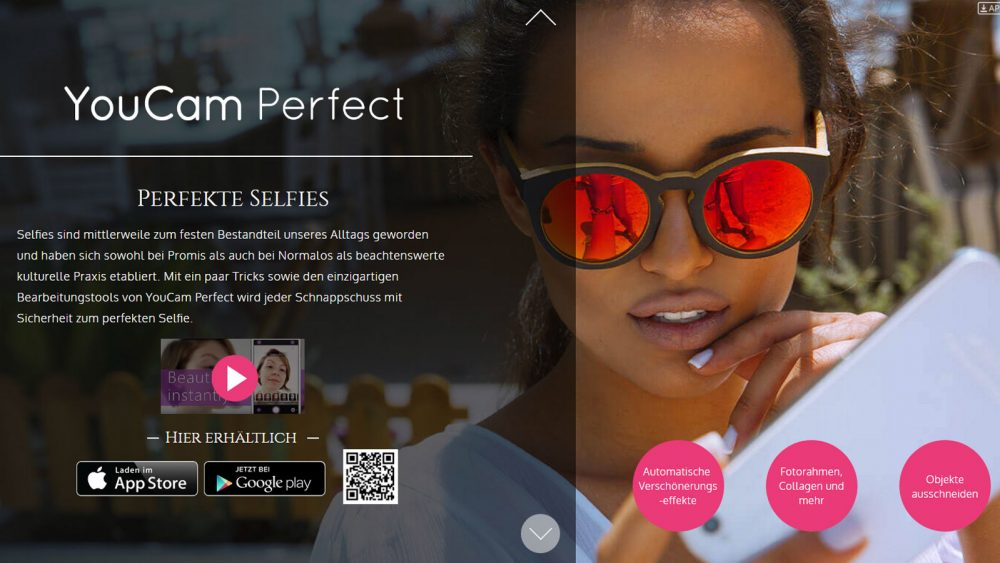 Die Android-Selfie-App Youcam Perfect.