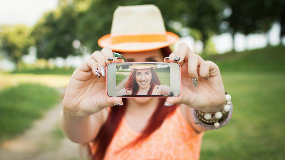 Selfies mit der Kamera-App