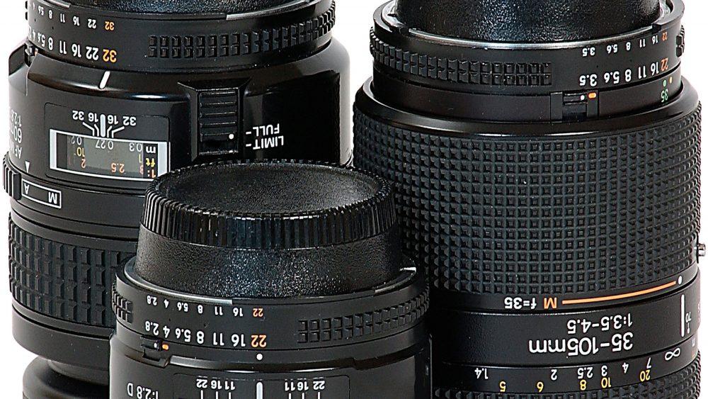 verschiedene Kamera Objektive