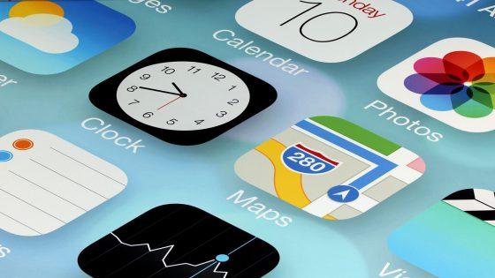Beispiel für iOS 10.2 Home Screen.