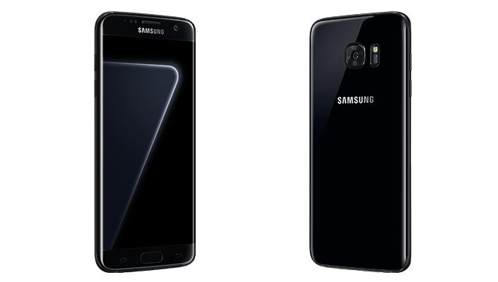 Samsung Galaxy S7 edge in neuer Farbvariante Black Pearl.