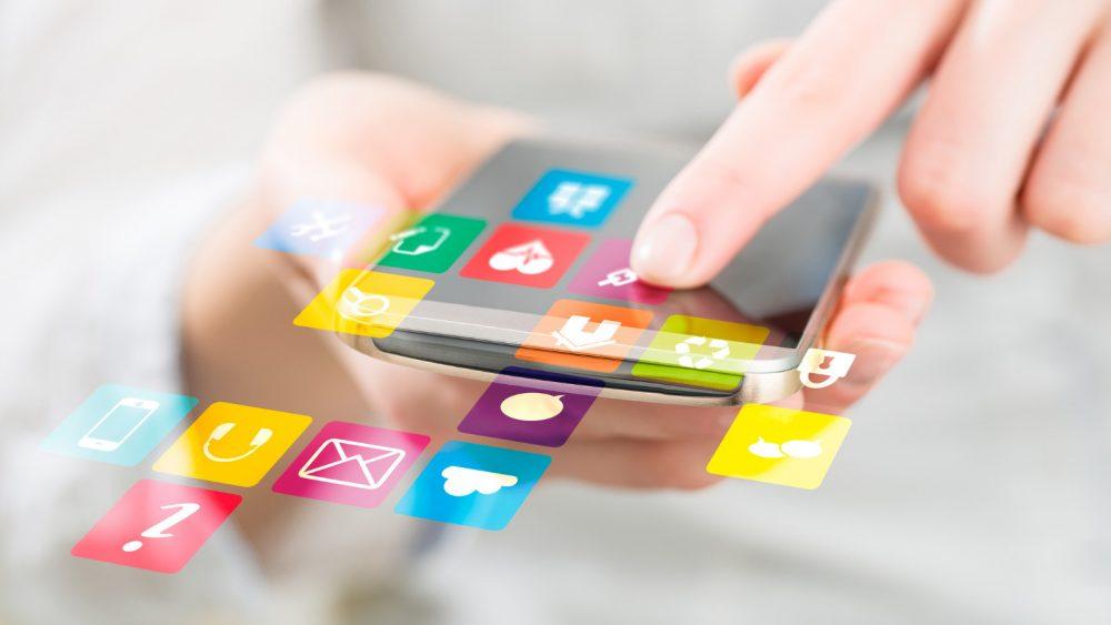 Symbole von Apps für das iPhone