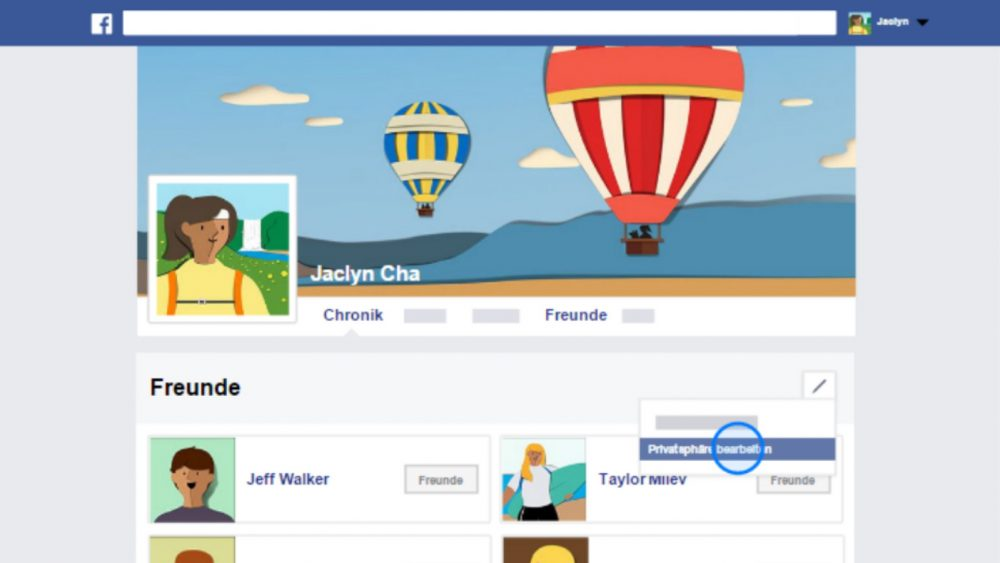 Screenshot Facebook-Grundlagen