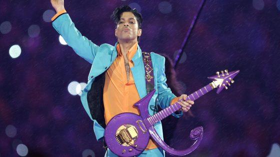 Prince 2007 in der Halbzeit-Show des Super Bowl