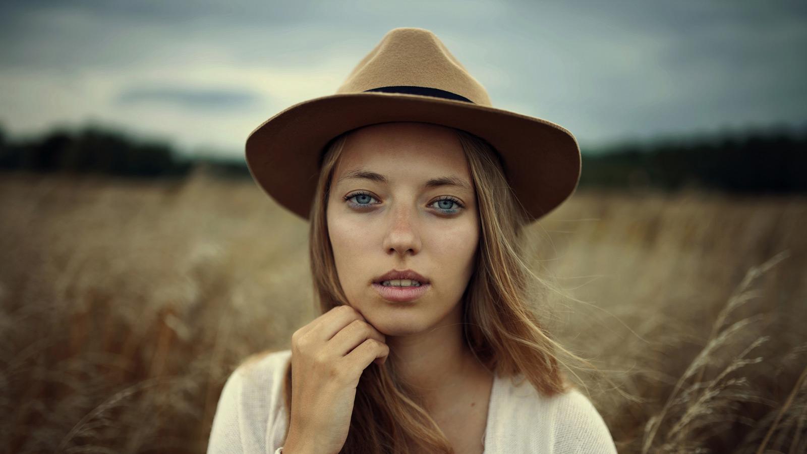 Foto vom Gesicht einer jungen Frau