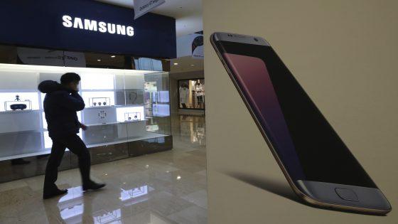 Ein Verkaufsstand von Samsung