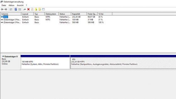 Windows 10: Externe Festplatte wird nicht erkannt