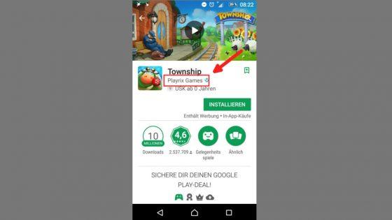App Name Anbieter