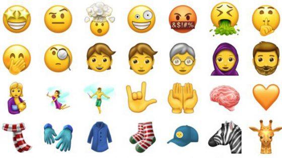 Das Bild zeigt eine Auswahl an Emojis