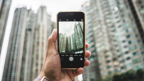 iPhone 6 fotografiert Hochhäuser