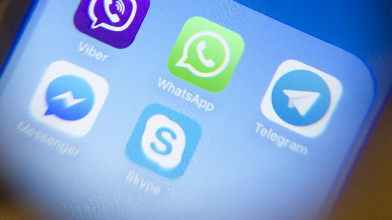 Messenger Apps auf Smartphone