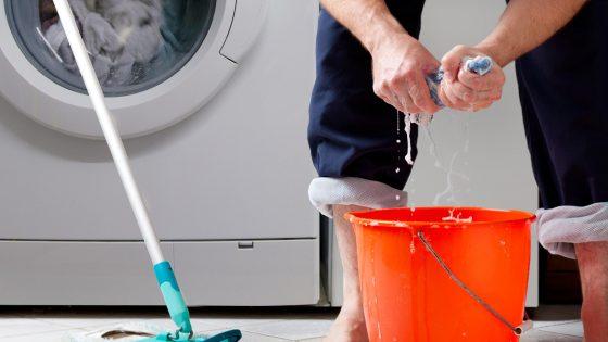 Undichte Waschmaschine