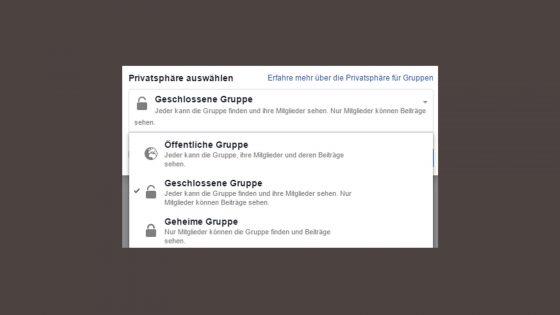Facebook Gruppe Privatsphäre