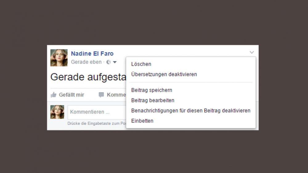 Facebook Post löschen