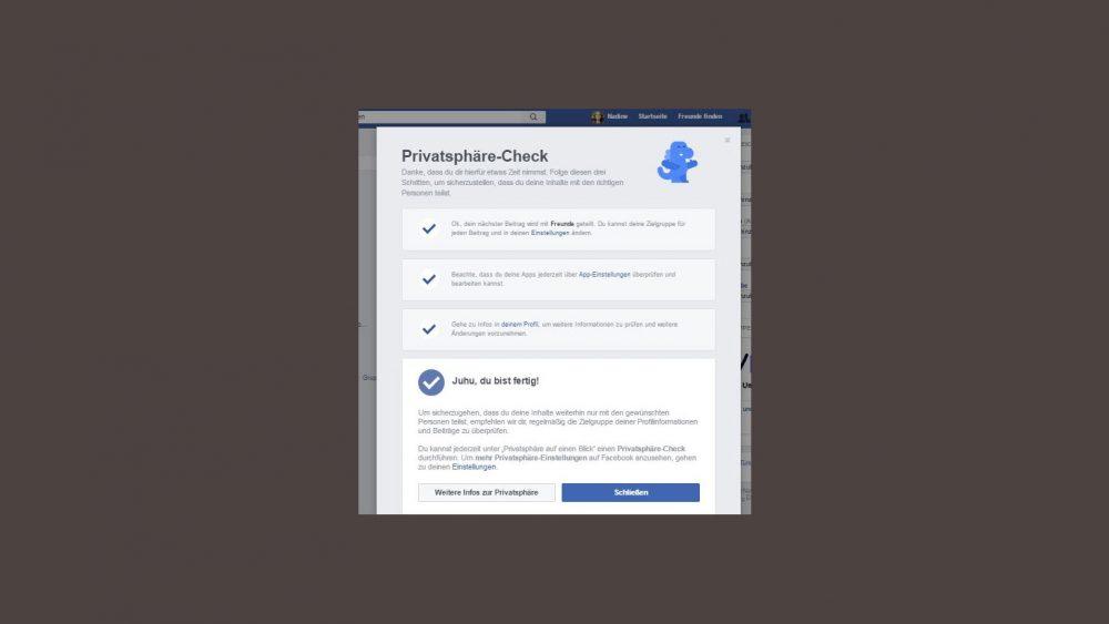 Facebook Privatsphäre Check