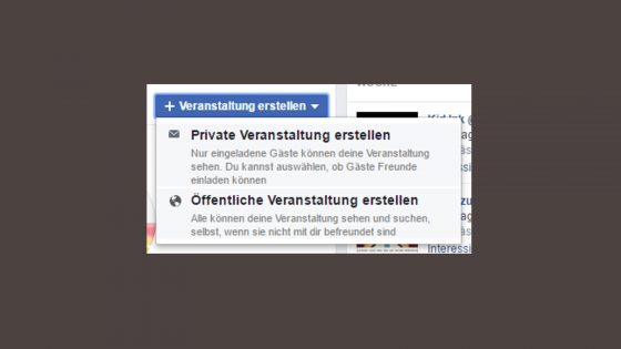 Facebook Veranstaltung Privatsphäre
