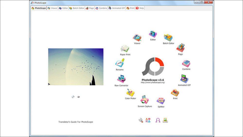 Gratis Bildbearbeitungs-Programme für Windows 10 PhotoScape