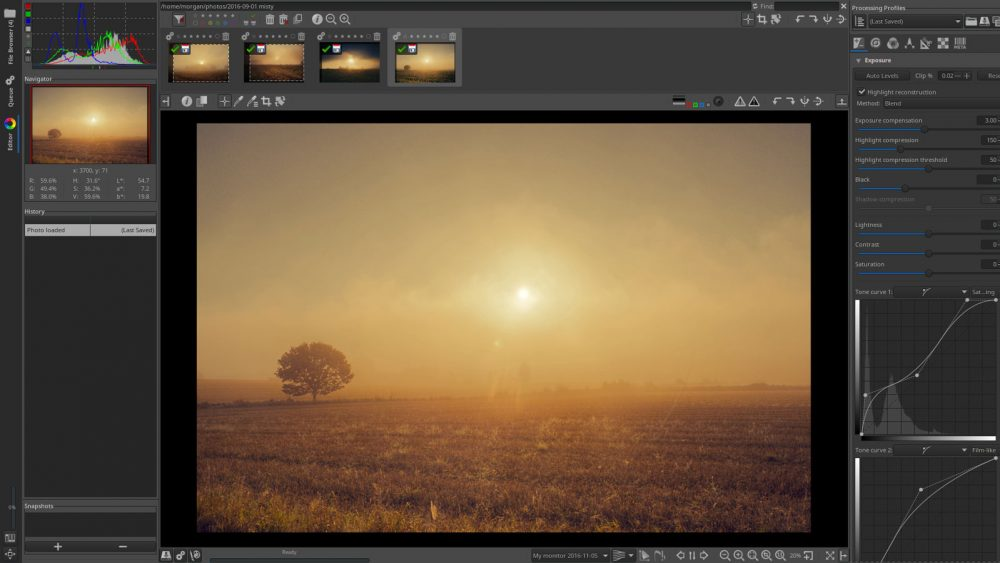 Gratis Bildbearbeitungs-Programme für Windows 10 RawTherapee