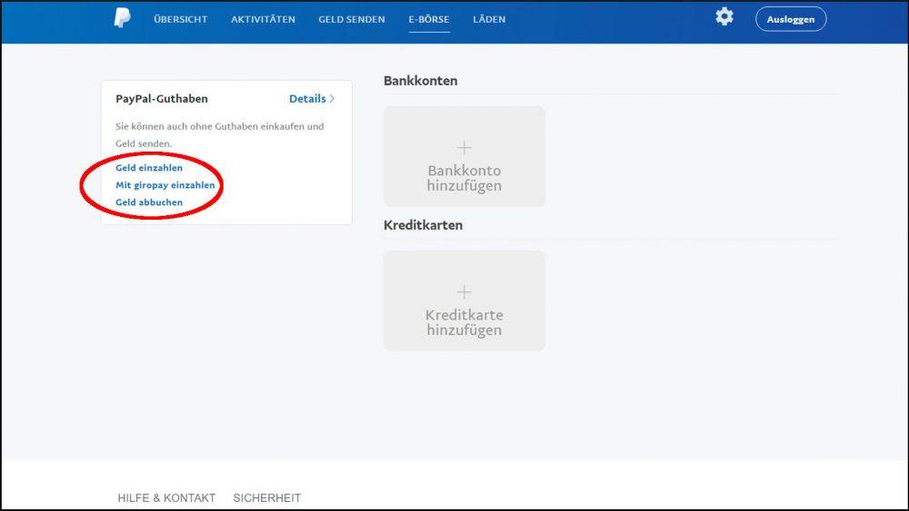 PayPal Konto einrichten & bezahlen Zahlungsmittel