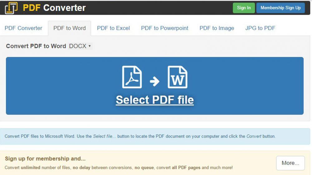 PDFs Windows kostenlose Programme Converter