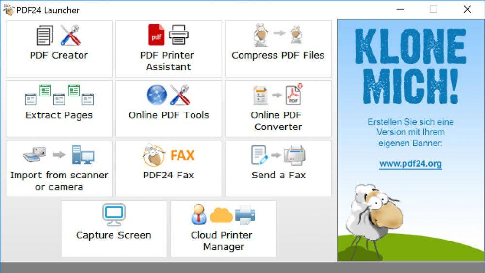 PDFs Windows kostenlose Programme PDF24