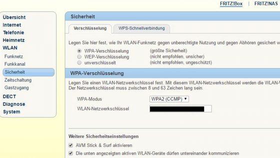 Sicherheit beim WLAN-Router Sicherheitseinstellungen