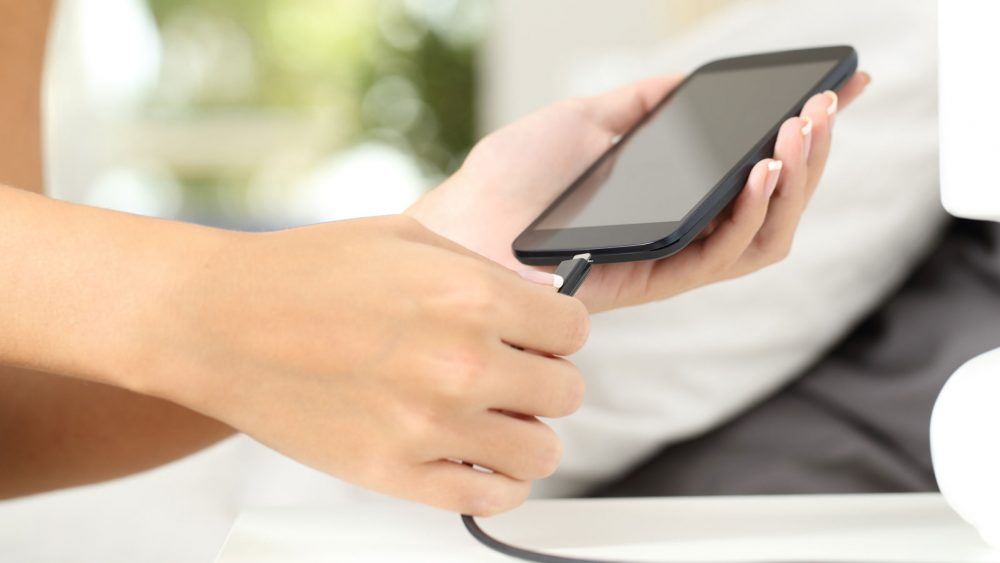 Smartphone-Akku Android Aufladung
