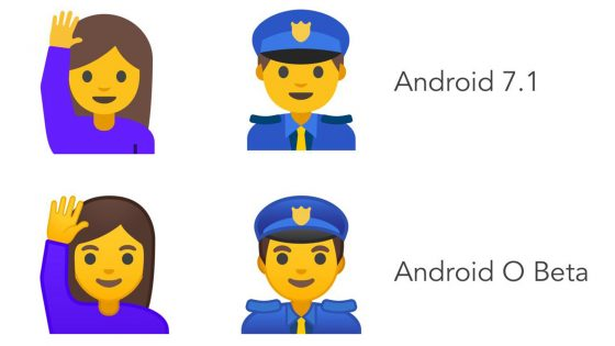 Android Emojis Android 7 und Android O im Vergleich