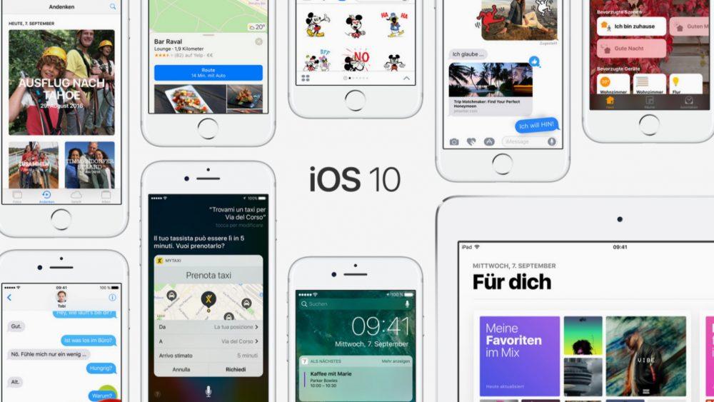Oberfläche iPhones mit iOS 10.