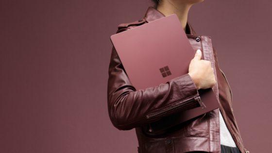 Screenshot User mit Microsoft Surface Laptop