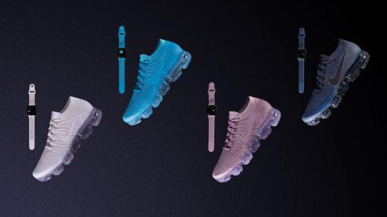 Nike Sneaker und Apple Watch Armbänder