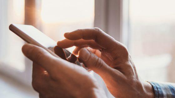 Fingerabdrucksensor Smartphone-Display