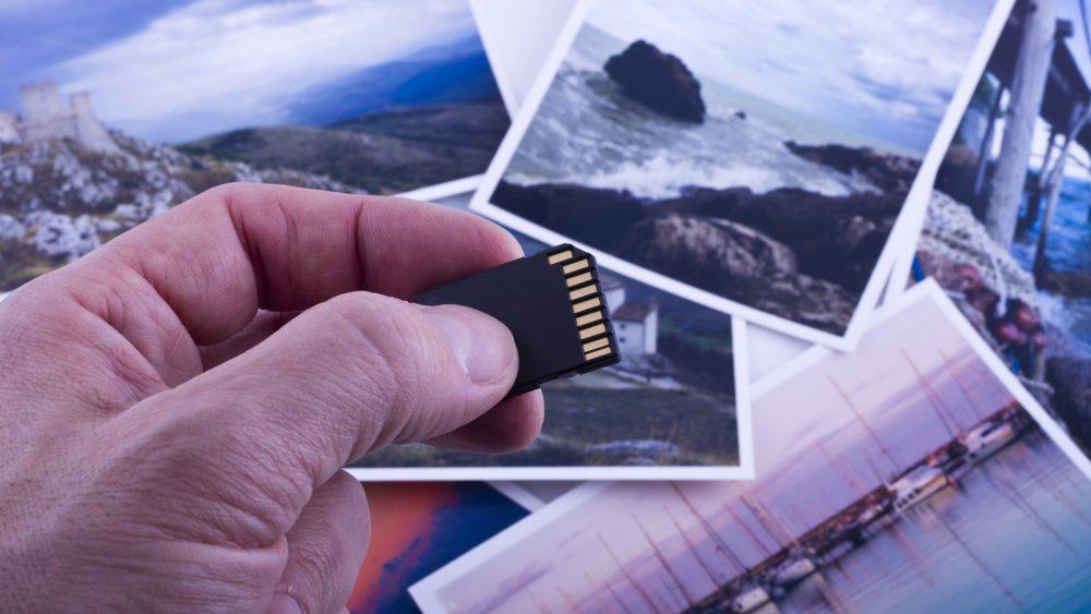 Speicherkarte für Urlaubsfotos